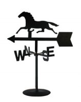 Wrought Iron Horse Table Top Weather Vane